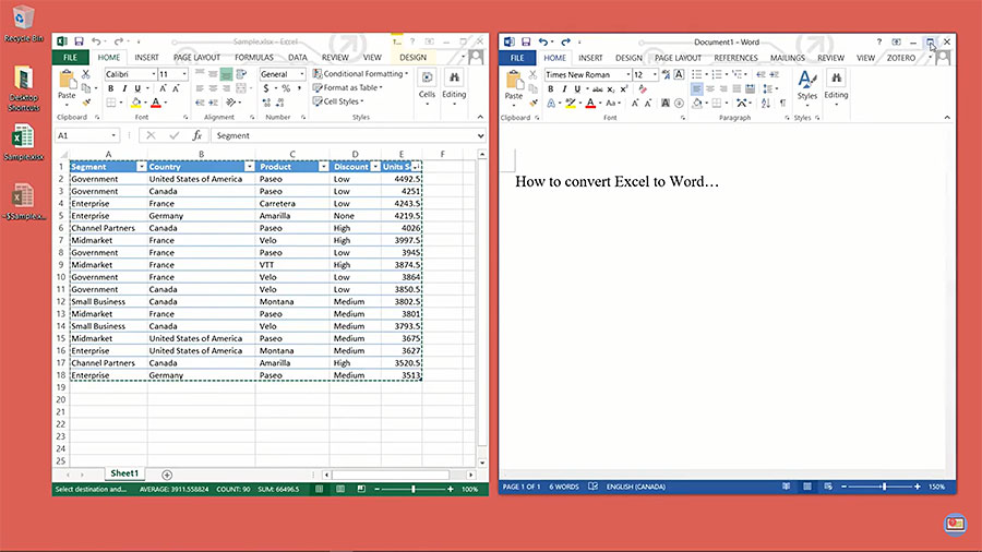 How to Convert Excel to Word Documents