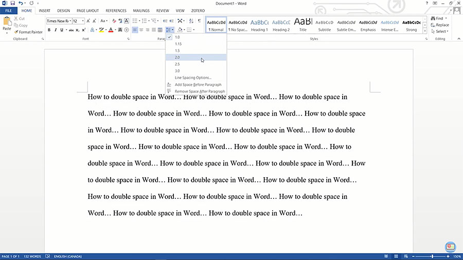 How to Double Space in Word Documents