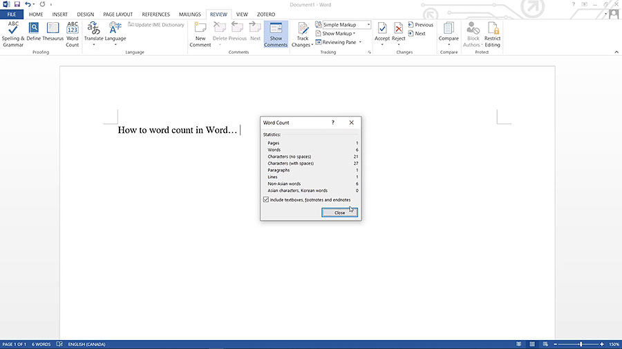 How to Do a Word Count in Word Documents