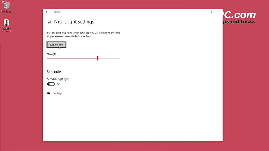 How to Turn on Night Light on Windows 10